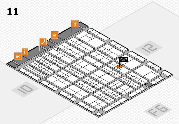 K 2016 hall map (Hall 11): stand G47