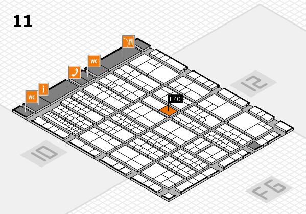 K 2016 hall map (Hall 11): stand E40