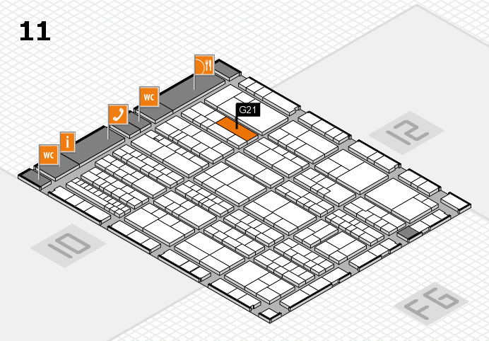 K 2016 Hallenplan (Halle 11): Stand G21