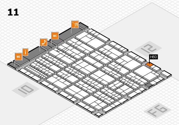 K 2016 Hallenplan (Halle 11): Stand H60