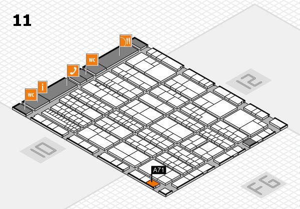 K 2016 hall map (Hall 11): stand A71