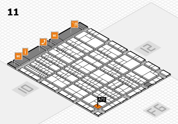 K 2016 hall map (Hall 11): stand A70