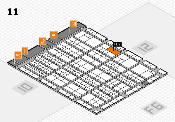 K 2016 hall map (Hall 11): stand H39