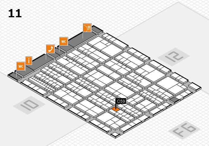 K 2016 hall map (Hall 11): stand C59