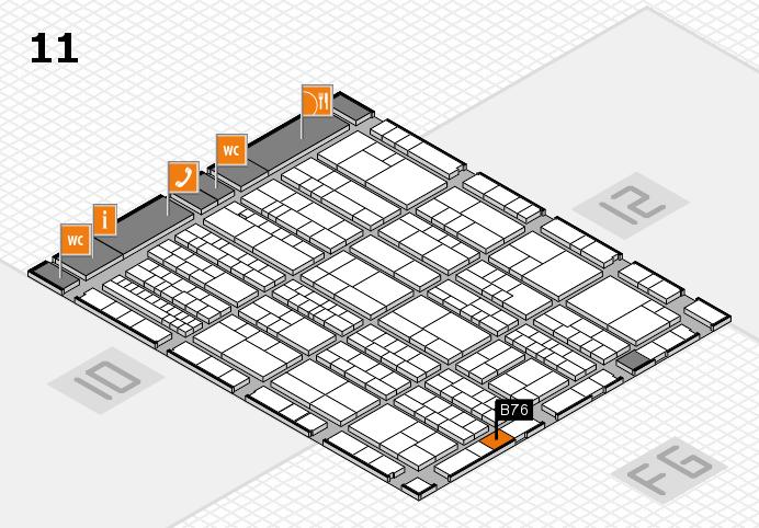 K 2016 Hallenplan (Halle 11): Stand B76