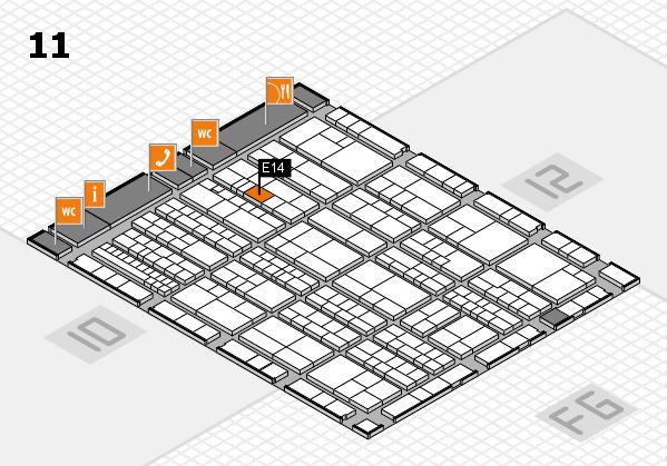K 2016 hall map (Hall 11): stand E14