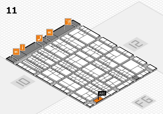 K 2016 hall map (Hall 11): stand A80