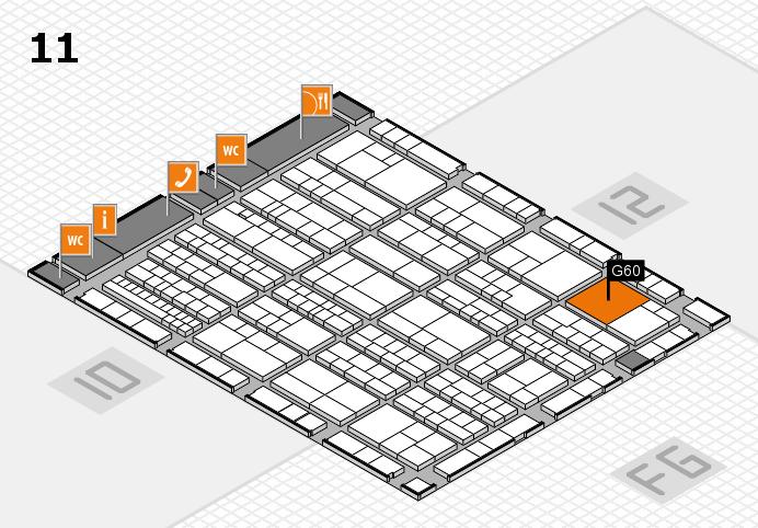 K 2016 hall map (Hall 11): stand G60