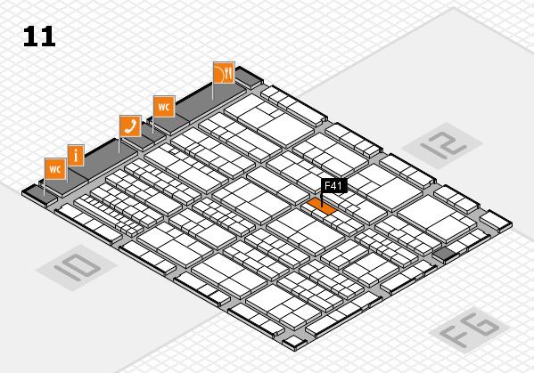 K 2016 hall map (Hall 11): stand F41