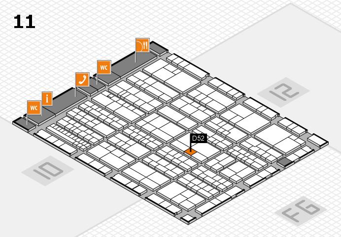 K 2016 hall map (Hall 11): stand D52