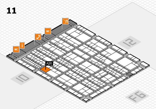 K 2016 hall map (Hall 11): stand A26