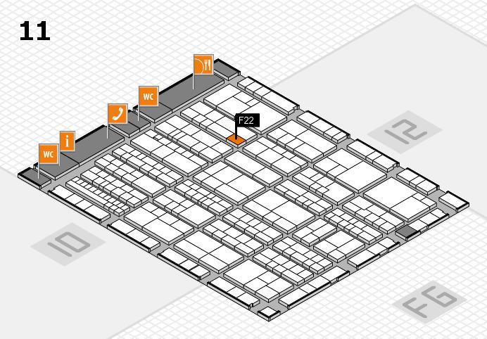 K 2016 Hallenplan (Halle 11): Stand F22