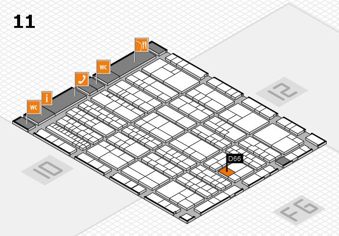 K 2016 Hallenplan (Halle 11): Stand D66