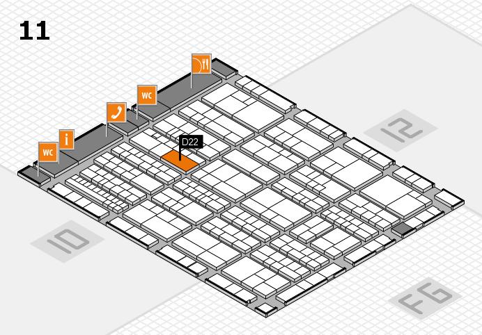 K 2016 hall map (Hall 11): stand D22