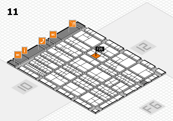 K 2016 hall map (Hall 11): stand F28