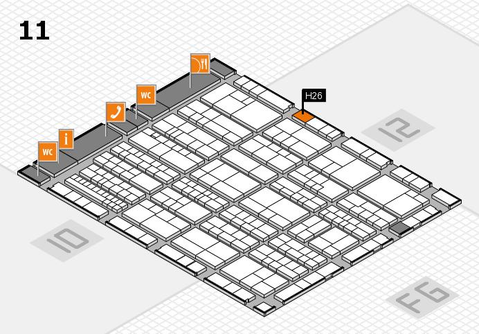 K 2016 Hallenplan (Halle 11): Stand H26