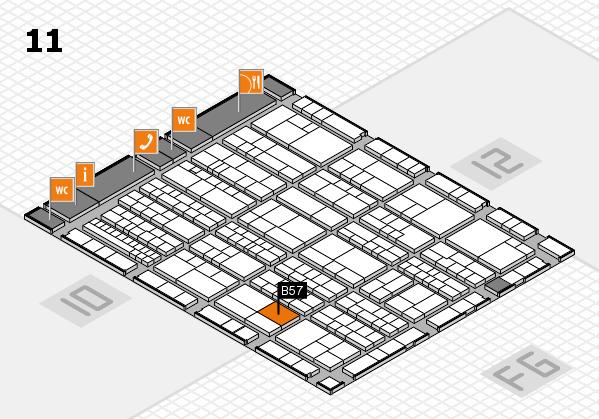 K 2016 Hallenplan (Halle 11): Stand B57