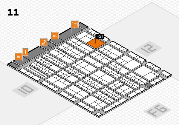 K 2016 hall map (Hall 11): stand H21