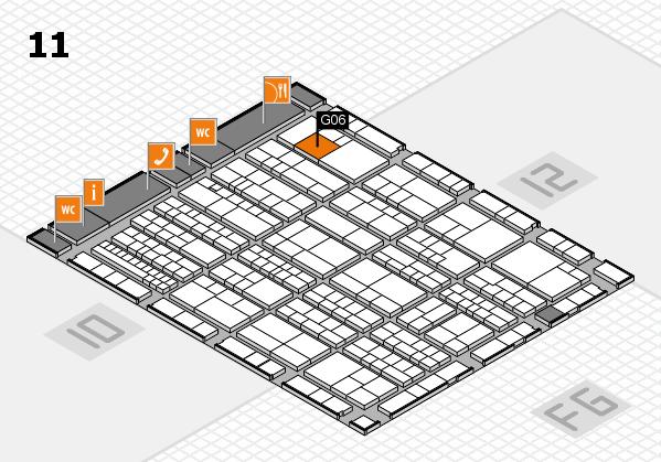 K 2016 hall map (Hall 11): stand G06