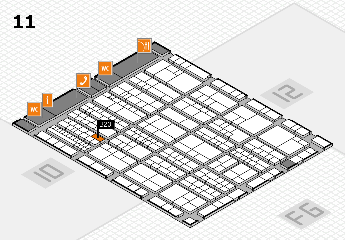 K 2016 Hallenplan (Halle 11): Stand B23