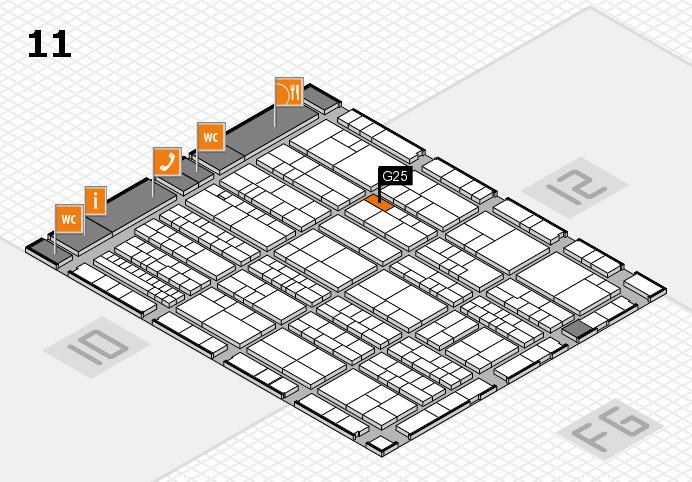 K 2016 Hallenplan (Halle 11): Stand G25