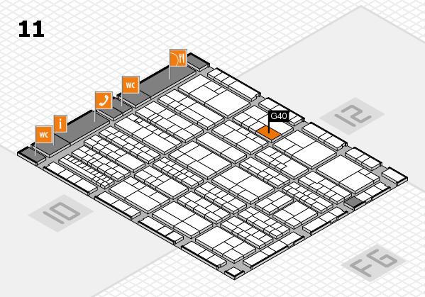 K 2016 hall map (Hall 11): stand G40