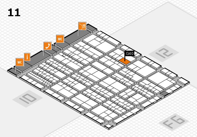 K 2016 Hallenplan (Halle 11): Stand G40