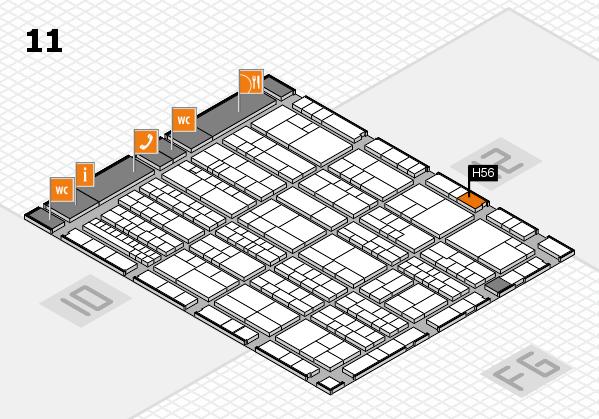 K 2016 hall map (Hall 11): stand H56