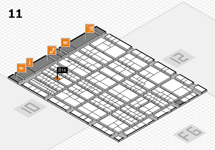 K 2016 hall map (Hall 11): stand B14