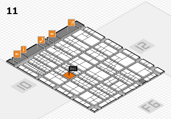 K 2016 Hallenplan (Halle 11): Stand B40