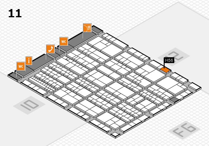 K 2016 Hallenplan (Halle 11): Stand H56