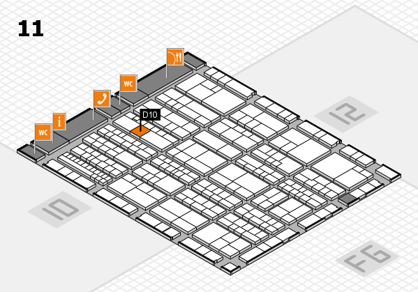K 2016 Hallenplan (Halle 11): Stand D10