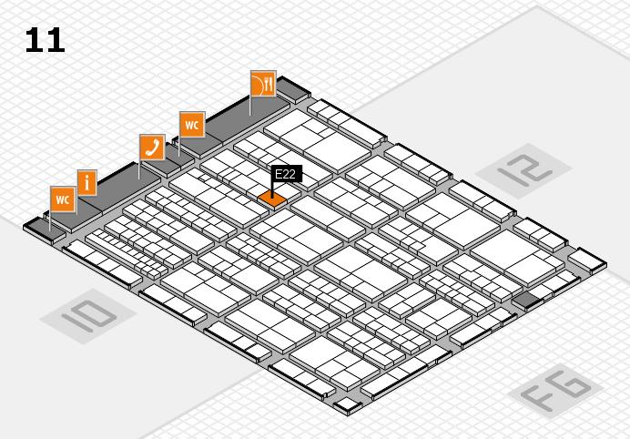 K 2016 Hallenplan (Halle 11): Stand E22