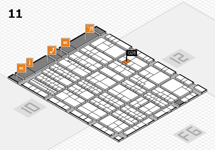 K 2016 hall map (Hall 11): stand G28