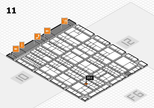 K 2016 hall map (Hall 11): stand B64