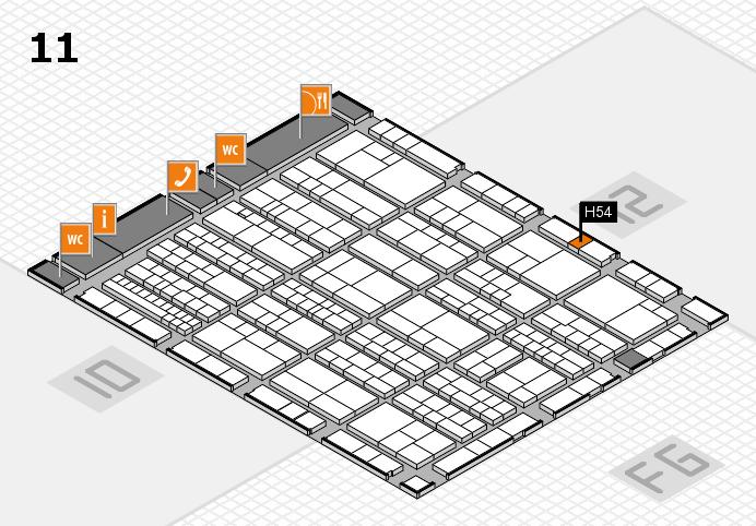 K 2016 hall map (Hall 11): stand H54