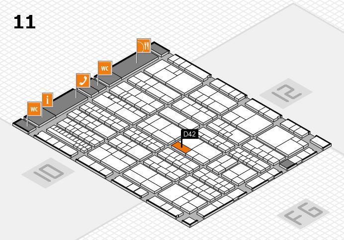 K 2016 Hallenplan (Halle 11): Stand D42