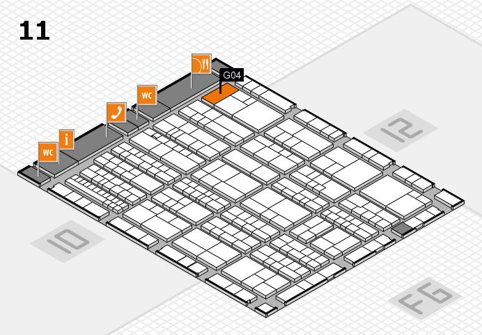K 2016 hall map (Hall 11): stand G04