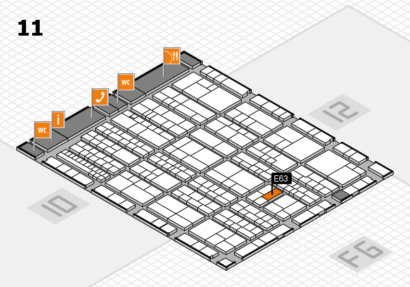 K 2016 hall map (Hall 11): stand E63