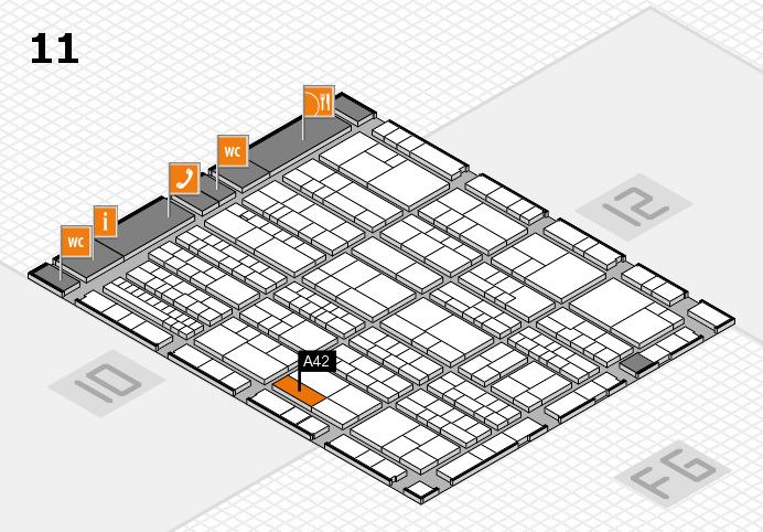 K 2016 hall map (Hall 11): stand A42