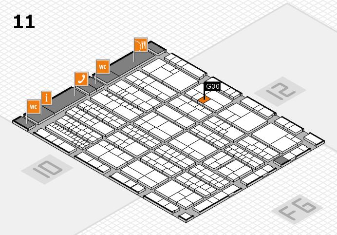 K 2016 hall map (Hall 11): stand G30