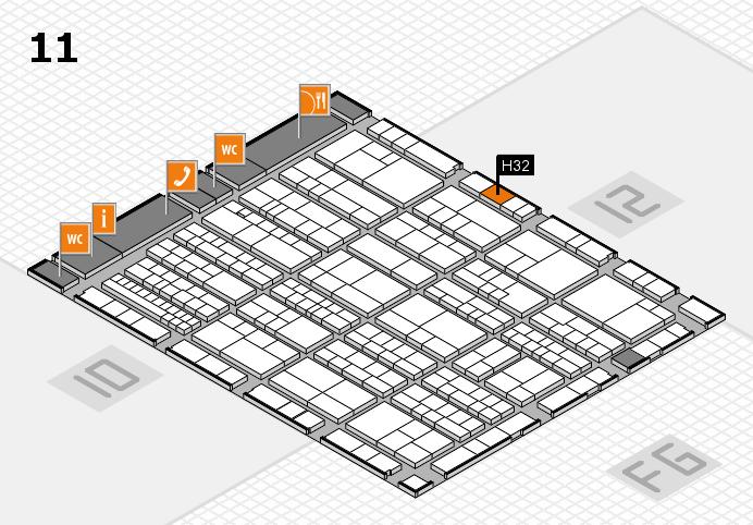 K 2016 hall map (Hall 11): stand H32
