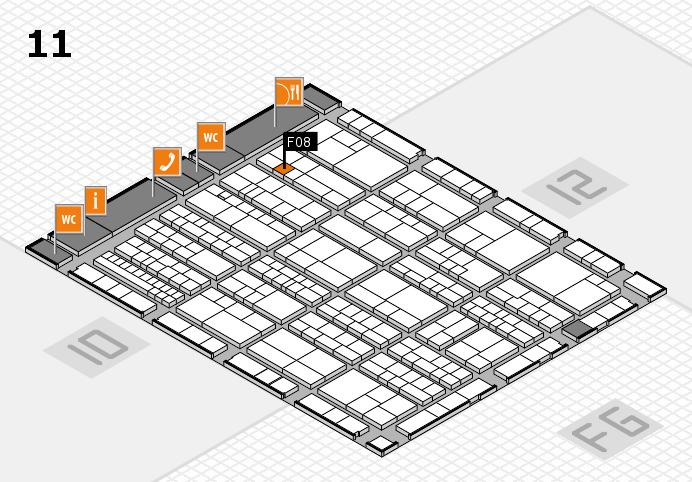 K 2016 hall map (Hall 11): stand F08