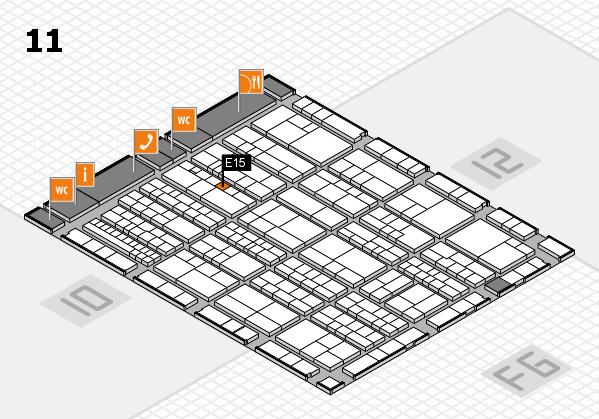 K 2016 hall map (Hall 11): stand E15