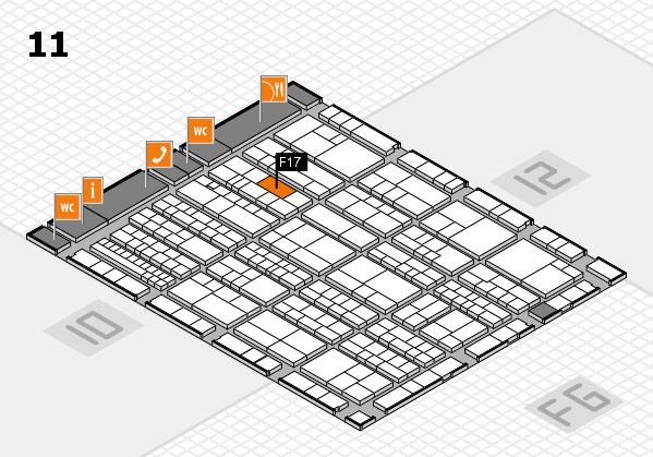 K 2016 hall map (Hall 11): stand F17
