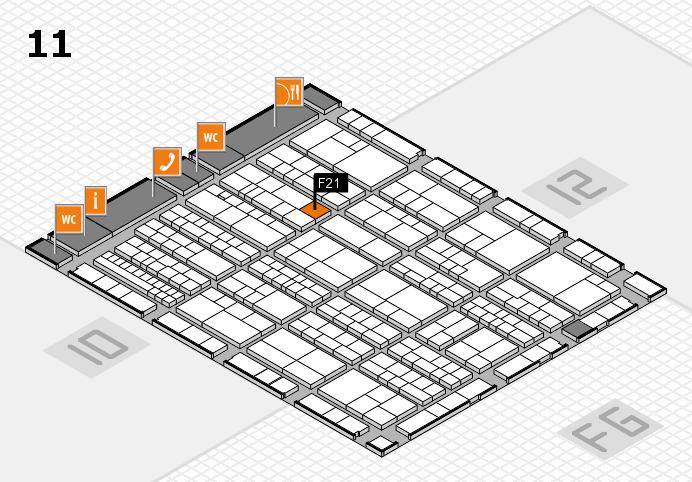 K 2016 hall map (Hall 11): stand F21