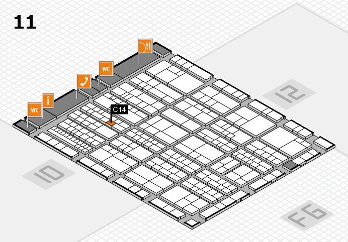 K 2016 hall map (Hall 11): stand C14
