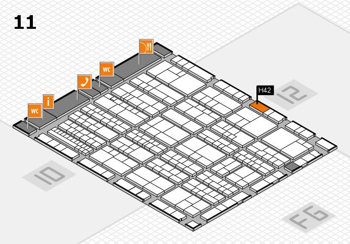 K 2016 hall map (Hall 11): stand H42