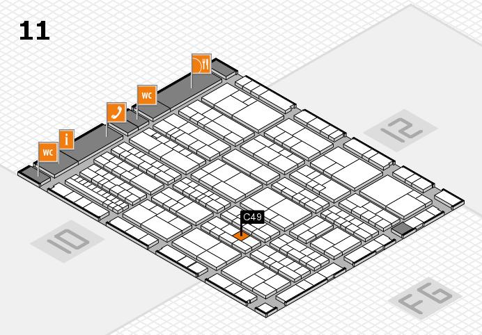 K 2016 hall map (Hall 11): stand C49