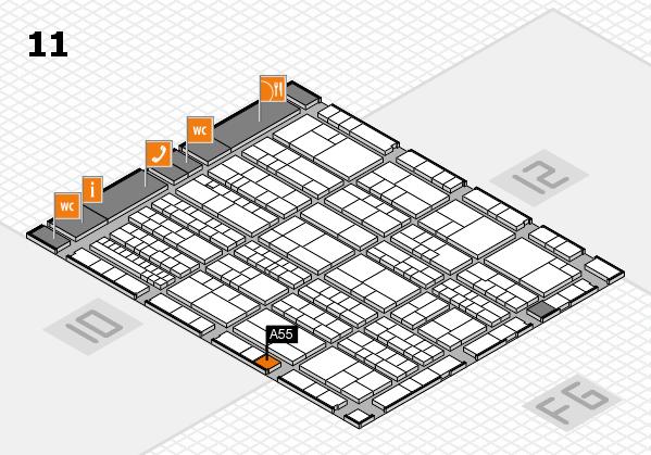 K 2016 Hallenplan (Halle 11): Stand A55